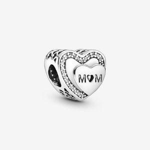 Pandora Sparkling Mom Heart Charm